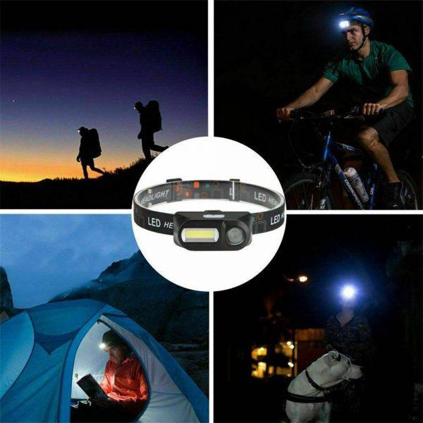 Usb Rechargeable Led Headlamp Headlight Head Lamp Torch Flashlight Waterproof (2)