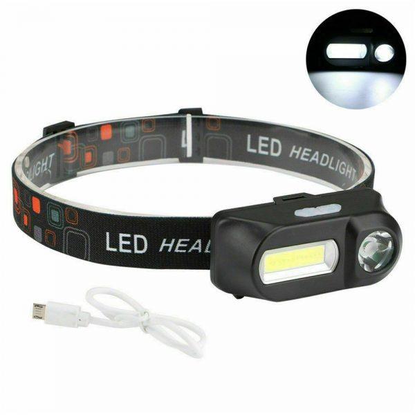 Usb Rechargeable Led Headlamp Headlight Head Lamp Torch Flashlight Waterproof (5)