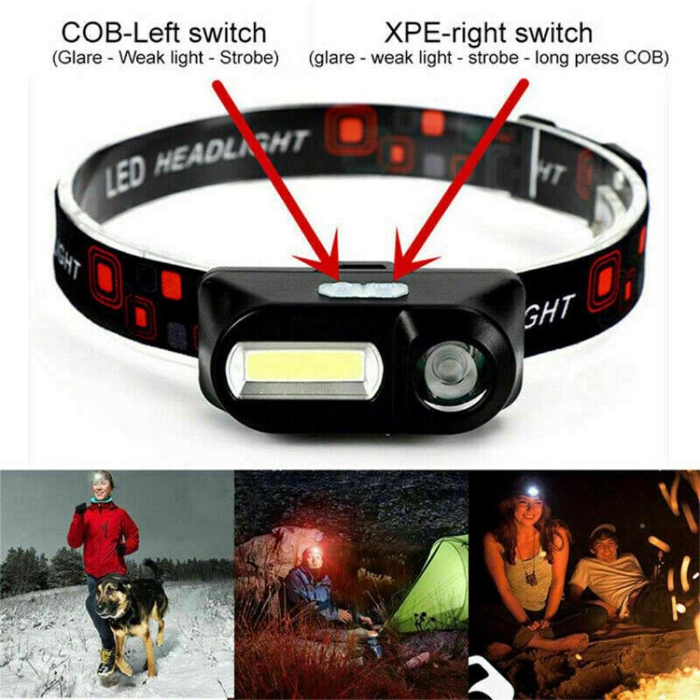 Usb Rechargeable Led Headlamp Headlight Head Lamp Torch Flashlight Waterproof (6)