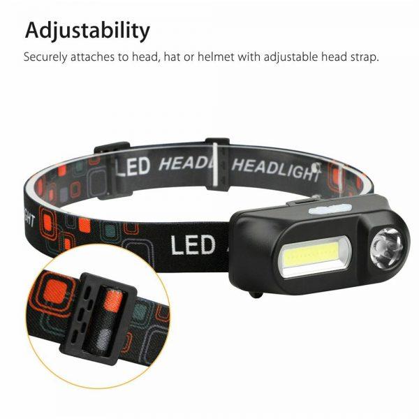 Usb Rechargeable Led Headlamp Headlight Head Lamp Torch Flashlight Waterproof (8)