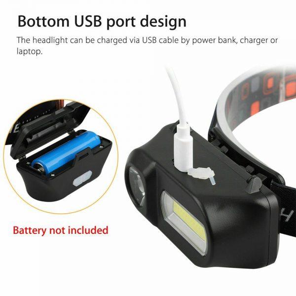Usb Rechargeable Led Headlamp Headlight Head Lamp Torch Flashlight Waterproof (9)
