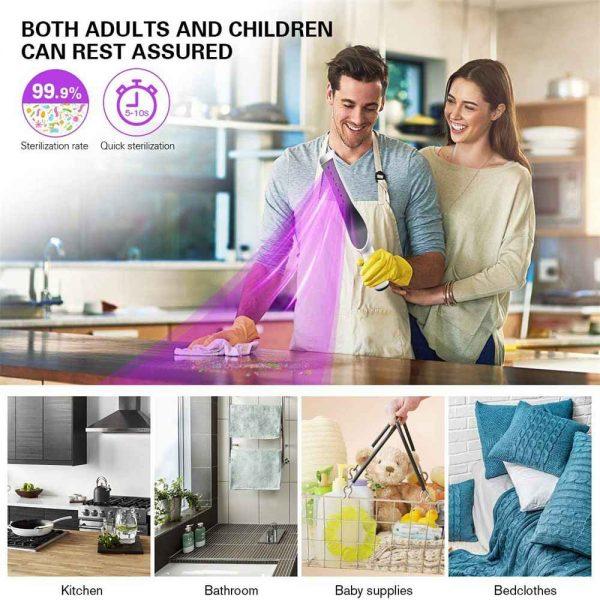 Uv Light Sanitizer Handheld Wand For Hotel Household Wardrobe Toilet Car Pet Area (8)