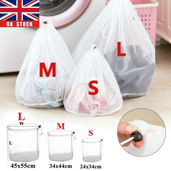 Washing Machine Mesh Net Bags Laundry Bag Large Thickened Wash Bags Reusable (1)