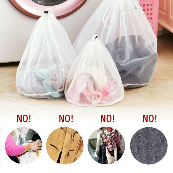 Washing Machine Mesh Net Bags Laundry Bag Large Thickened Wash Bags Reusable (13)