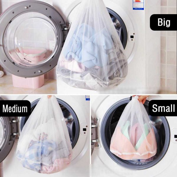 Washing Machine Mesh Net Bags Laundry Bag Large Thickened Wash Bags Reusable (9)
