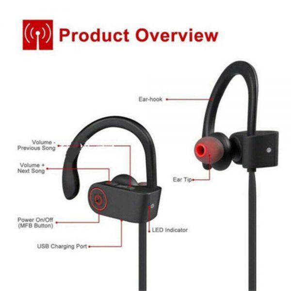 Waterproof Bluetooth Earbuds Beats Sports Wireless Headphones In Ear Headsets (4)