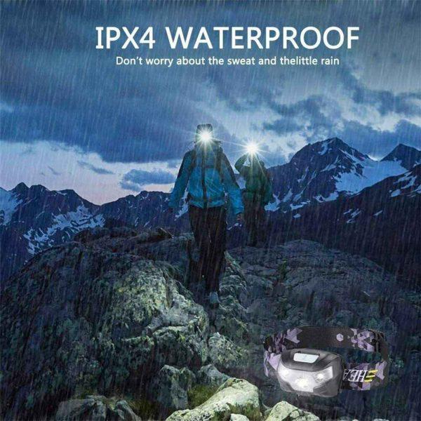 Waterproof Headlight Super Bright Head Torch Led Usb Headlamp Fishing Camping (10)
