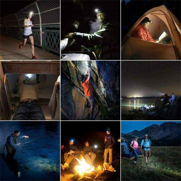 Waterproof Headlight Super Bright Head Torch Led Usb Headlamp Fishing Camping (14)