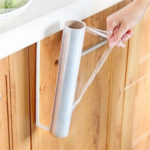 White Under Cabinet Paper Roll Rack Kitchen Hanger Towel Holder Wall Accessories (12)