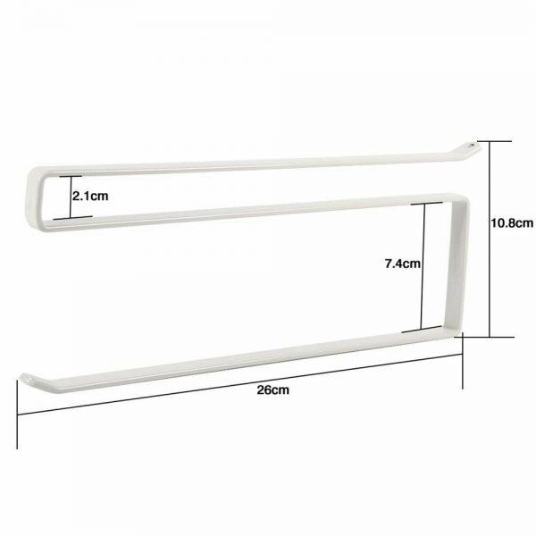 White Under Cabinet Paper Roll Rack Kitchen Hanger Towel Holder Wall Accessories (3)