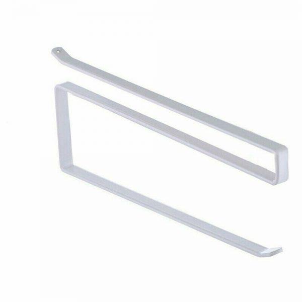 White Under Cabinet Paper Roll Rack Kitchen Hanger Towel Holder Wall Accessories (4)