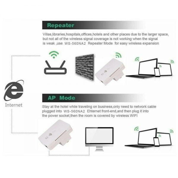 Wifi Range Extender Internet Signal Booster Router Wireless Enhancer Repeater (11)