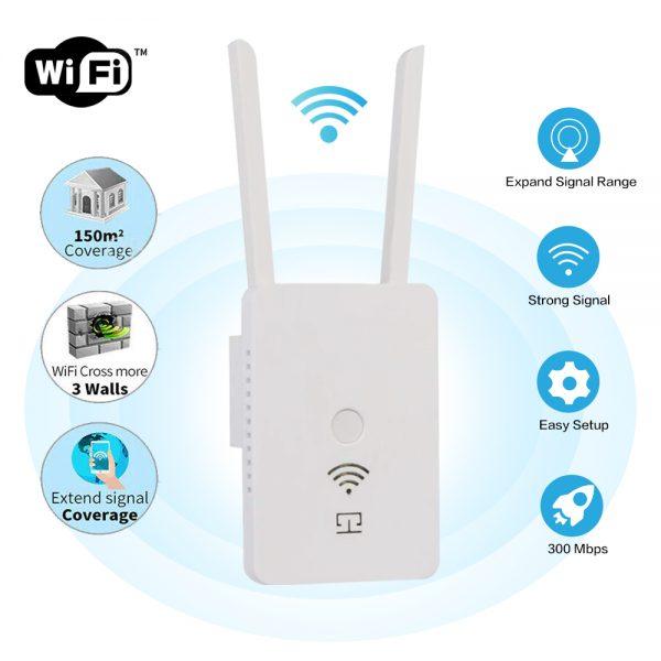 Wifi Range Extender Internet Signal Booster Router Wireless Enhancer Repeater (2)