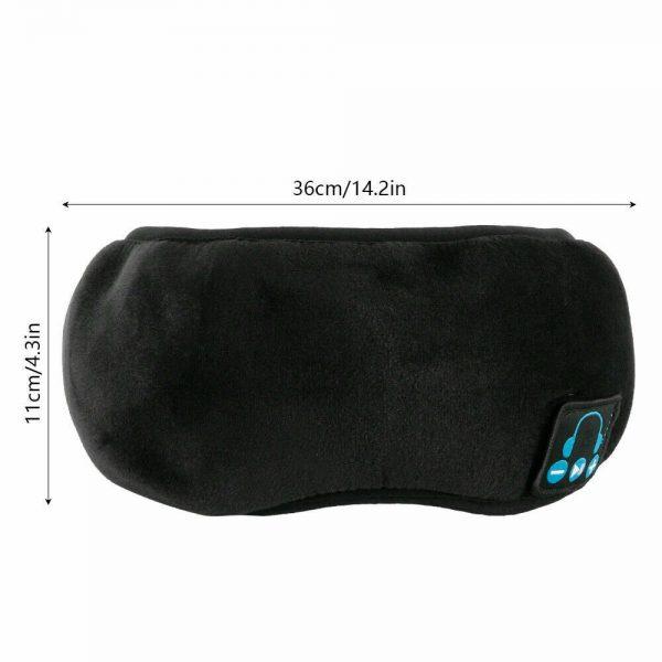 Wireless Bluetooth Stereo Sleep Earphone Built In Headphones Eye Mask Headset (10)