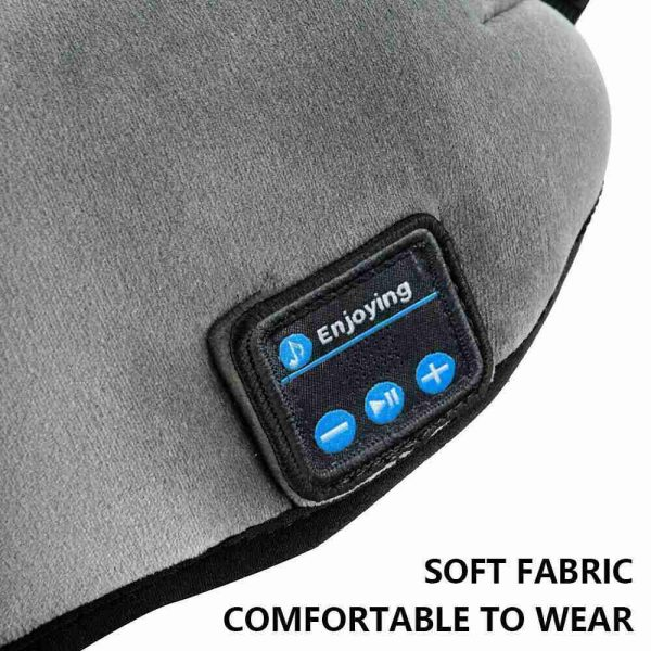Wireless Bluetooth Stereo Sleep Earphone Built In Headphones Eye Mask Headset (16)