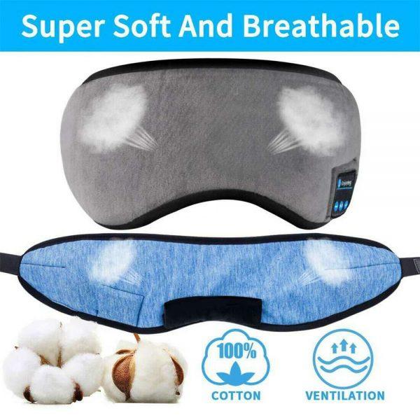 Wireless Bluetooth Stereo Sleep Earphone Built In Headphones Eye Mask Headset (4)