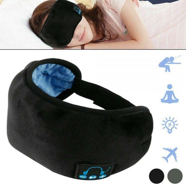 Wireless Bluetooth Stereo Sleep Earphone Built In Headphones Eye Mask Headset (7)