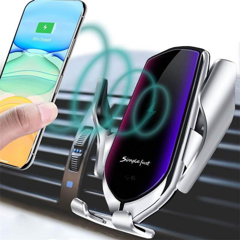 Wireless Car Charger Mount New Model Smart Sensor Auto Clamping Car Mount Air Vent Phone Holder (7)