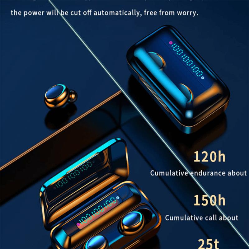 Wireless Earphones 8d Stereo Bass Sport Headphones With 3 Led Digital Power Display (2)