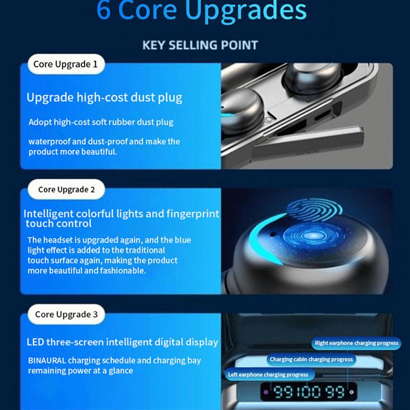 Wireless Earphones 8d Stereo Bass Sport Headphones With 3 Led Digital Power Display (8)