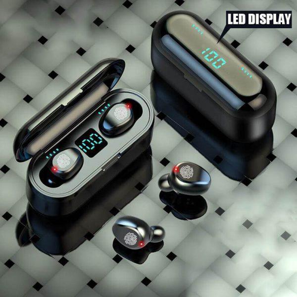 Wireless Headphone Earpohone High Configuration Battery Display Mini In Ear Sports Earbuds (1)