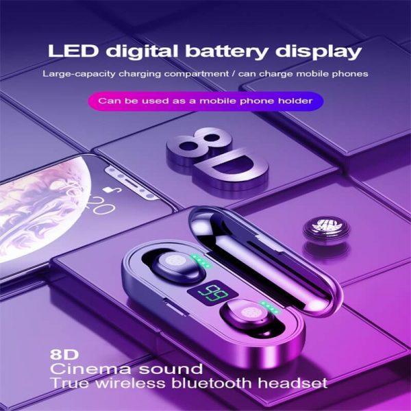 Wireless Headphone Earpohone High Configuration Battery Display Mini In Ear Sports Earbuds (10)