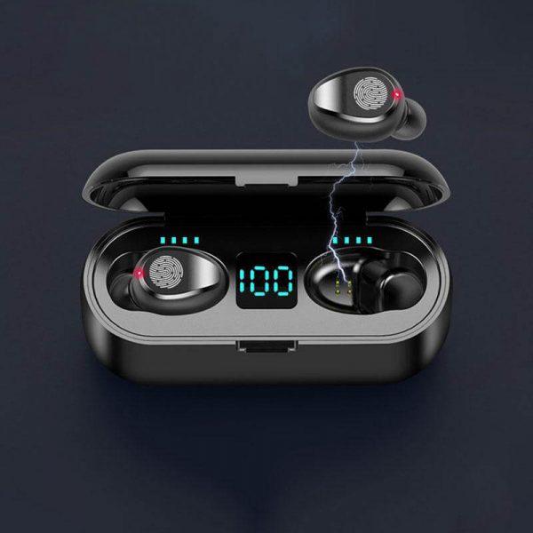 Wireless Headphone Earpohone High Configuration Battery Display Mini In Ear Sports Earbuds (2)