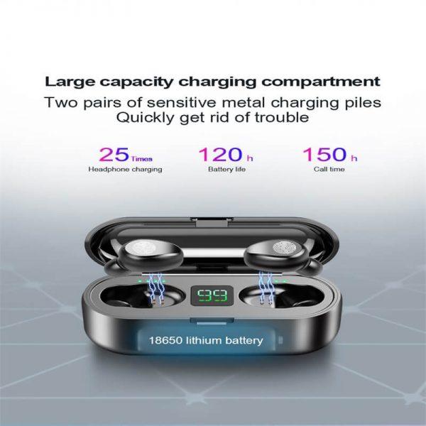 Wireless Headphone Earpohone High Configuration Battery Display Mini In Ear Sports Earbuds (8)