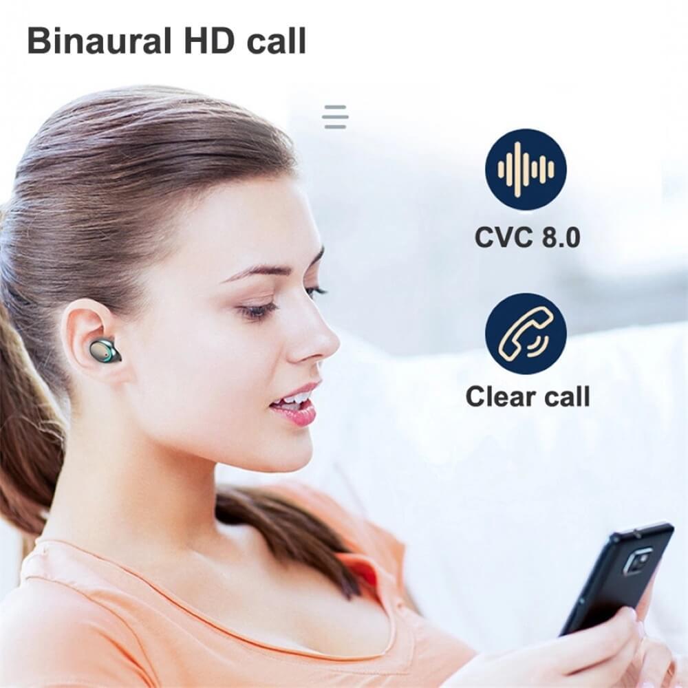 Wireless Headphones Gaming Headset Noise Mini In Ear Support Sports Running Earphone (10)