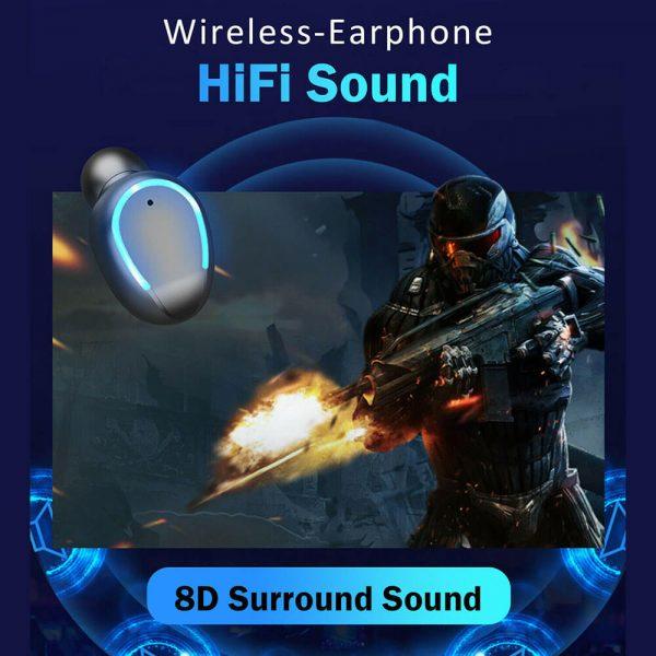 Wireless Headphones Gaming Headset Noise Mini In Ear Support Sports Running Earphone (2)