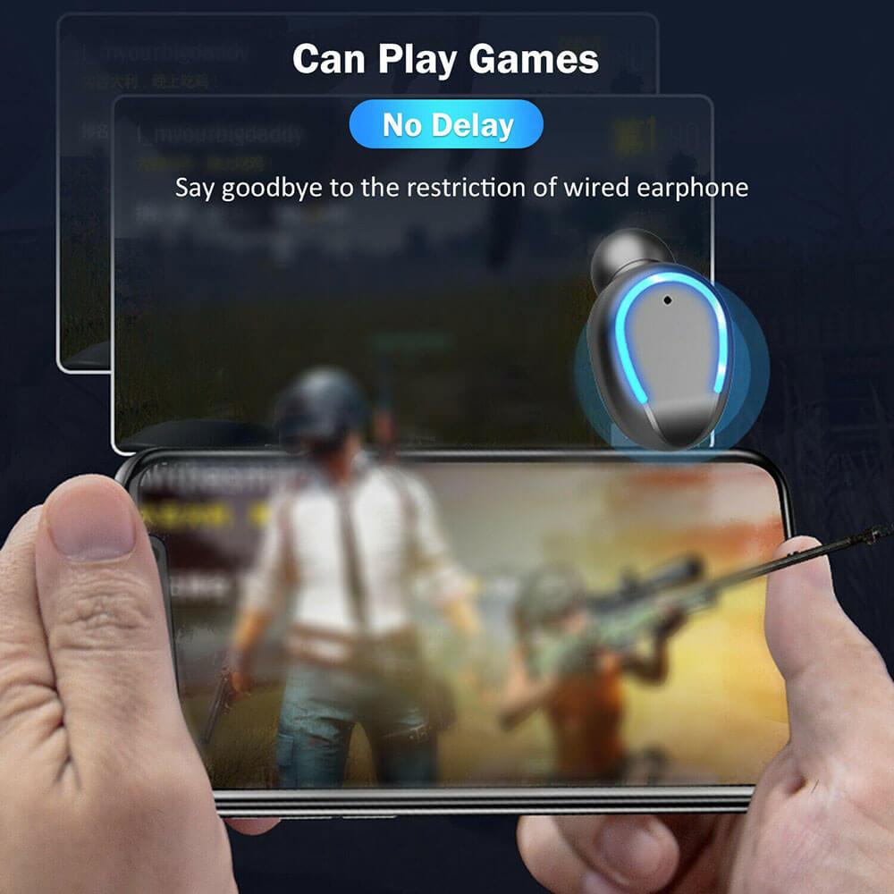 Wireless Headphones Gaming Headset Noise Mini In Ear Support Sports Running Earphone (3)