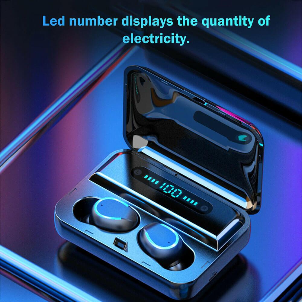 Wireless Headphones Gaming Headset Noise Mini In Ear Support Sports Running Earphone (6)