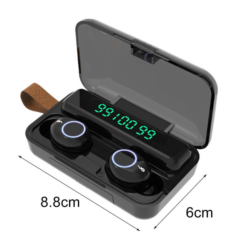 Wireless Earbuds Touch Button Noise Reduction Sports Bluetooth Digital Display Headset (8)