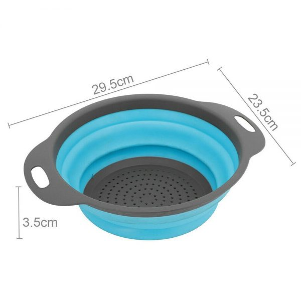 Kitchen Collapsible Colander Folding Strainer Silicone Space Save Sieve Cooking (10)