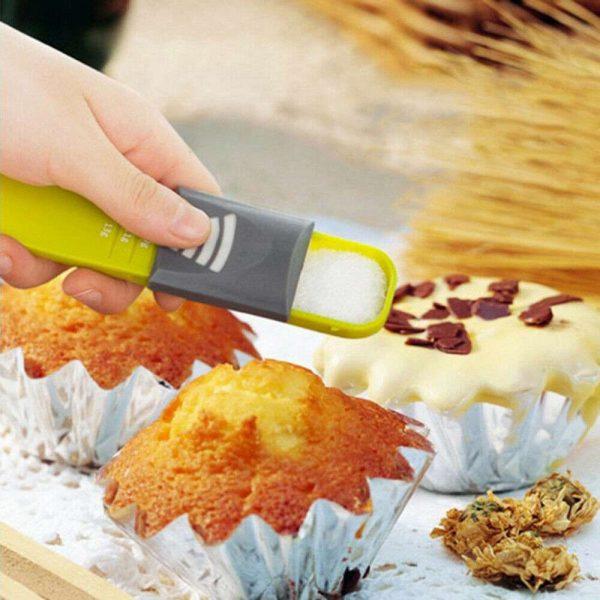 Sliding Adjustable Multi Purpose Measuring Spoon Tool Solid Liquid Ml Grams (13)