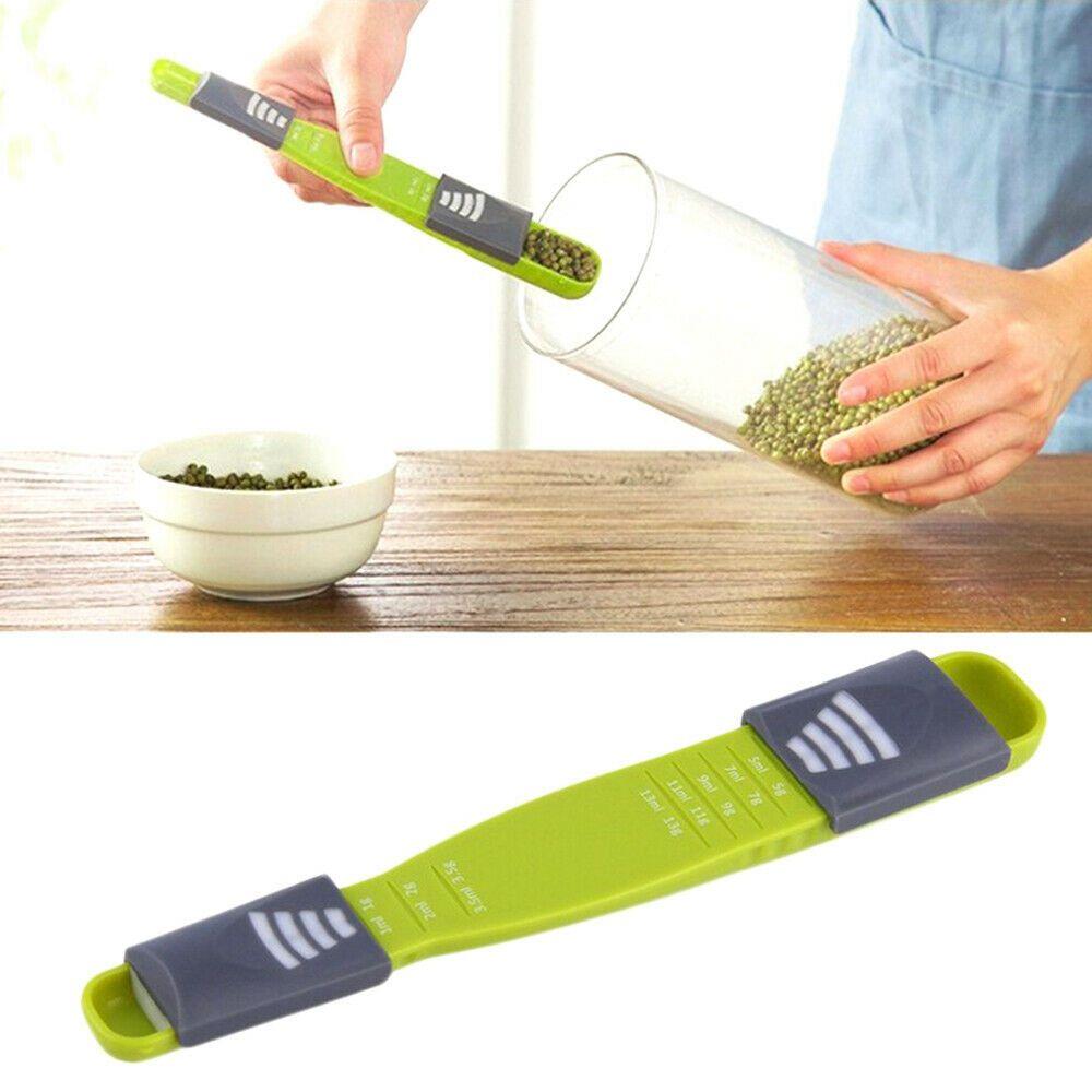 Sliding Adjustable Multi Purpose Measuring Spoon Tool Solid Liquid Ml Grams (16)