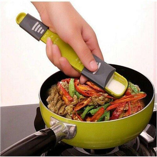 Sliding Adjustable Multi Purpose Measuring Spoon Tool Solid Liquid Ml Grams (19)