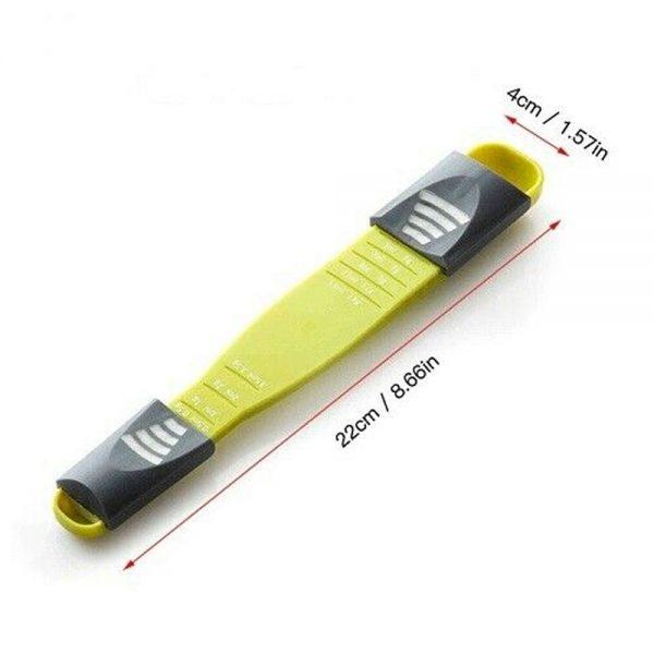 Sliding Adjustable Multi Purpose Measuring Spoon Tool Solid Liquid Ml Grams (20)