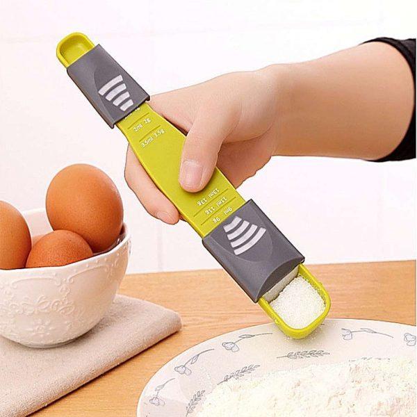 Sliding Adjustable Multi Purpose Measuring Spoon Tool Solid Liquid Ml Grams (3)