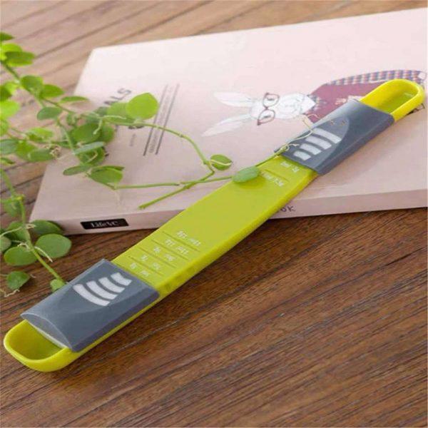 Sliding Adjustable Multi Purpose Measuring Spoon Tool Solid Liquid Ml Grams (5)