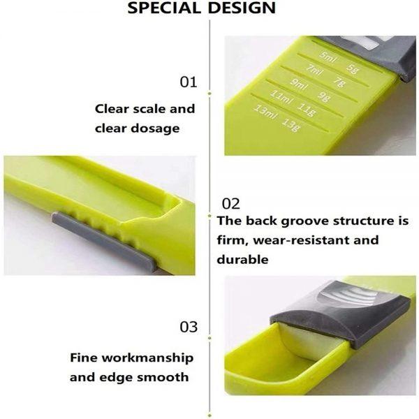 Sliding Adjustable Multi Purpose Measuring Spoon Tool Solid Liquid Ml Grams (7)