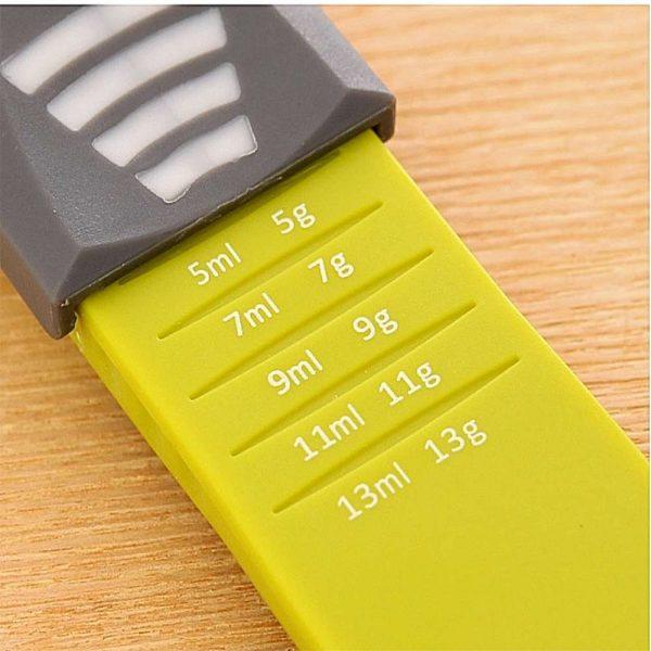 Sliding Adjustable Multi Purpose Measuring Spoon Tool Solid Liquid Ml Grams (9)