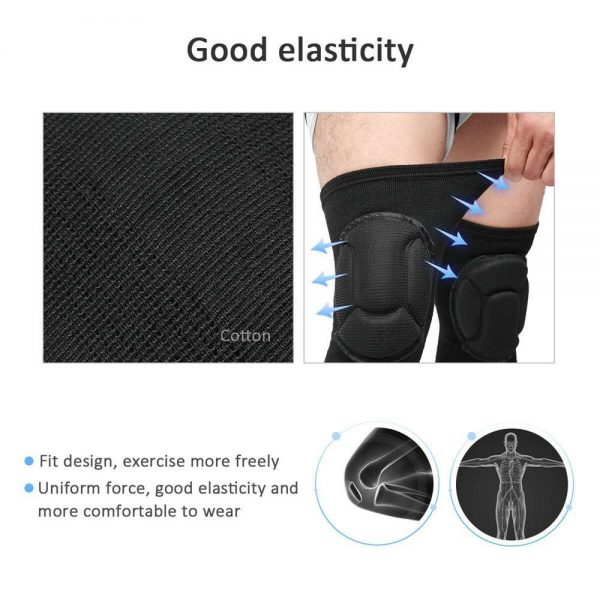 1 Pair Professional Knee Pads Construction Comfort Leg Protectors Work Safety (3)