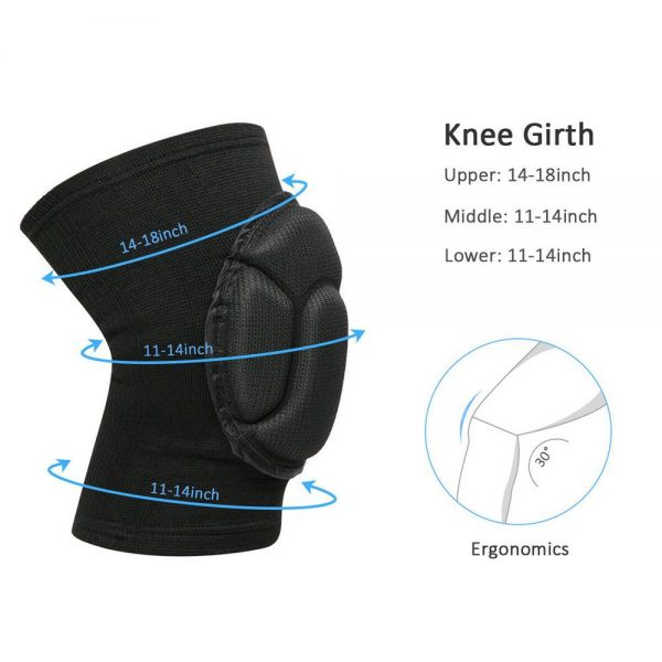 1 Pair Professional Knee Pads Construction Comfort Leg Protectors Work Safety (5)