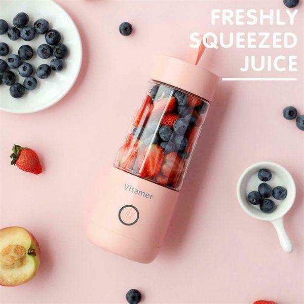 350ml Smart Usb Mini Juice Cup Portable Blender Smoothie Juice Machine (11)
