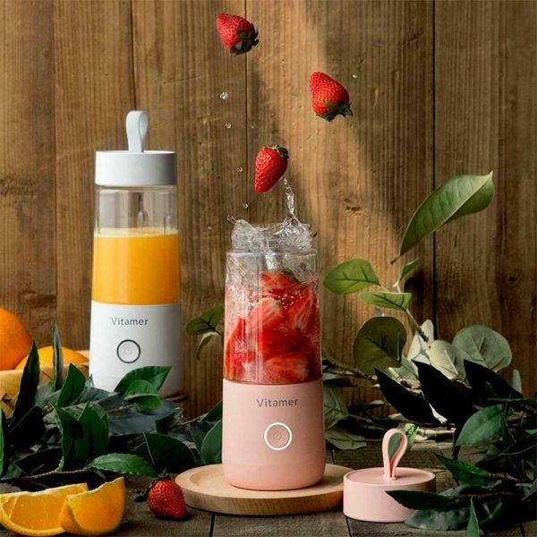 350ml Smart Usb Mini Juice Cup Portable Blender Smoothie Juice Machine (15)