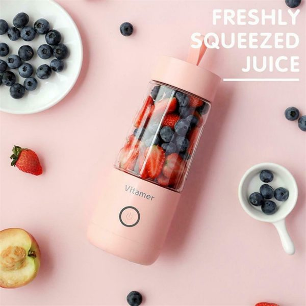 350ml Smart Usb Mini Juice Cup Portable Blender Smoothie Juice Machine (3)