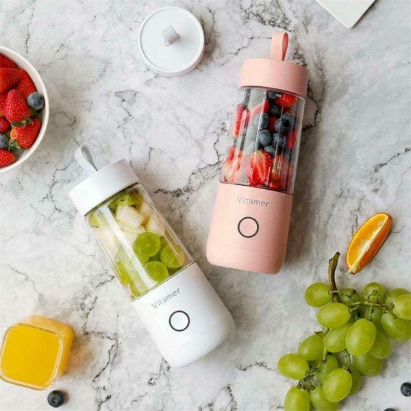 350ml Smart Usb Mini Juice Cup Portable Blender Smoothie Juice Machine (5)