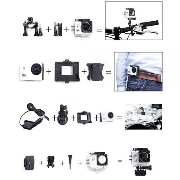 4k Full Hd 1080p Waterproof Sports Camera Action Camcorder Sports Dv Car Camera (10)