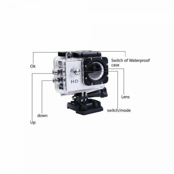 4k Full Hd 1080p Waterproof Sports Camera Action Camcorder Sports Dv Car Camera (9)